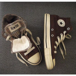 All Star Converse High Top Double Tongue Sneakers